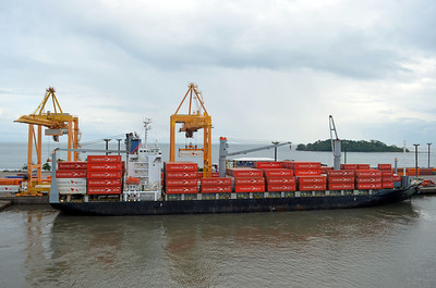 Container Ship heads for Germany