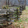Lincoln was known as a rail splitter.  He probably built many fences like the one shown here.
