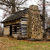 A replica of a frontier cabin like the one that Lincoln and his family may have lived in.
