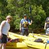 Kayaking on the Weeki Wachee River.  Linda, Bob, and Chuck.