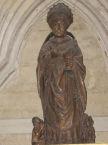 Statue of St. Nicholas, patron saint of children (ca 1500), York Minster