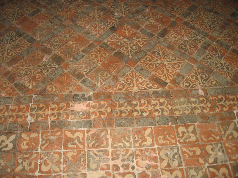 Medieval tile floors, Winchester Cathedral