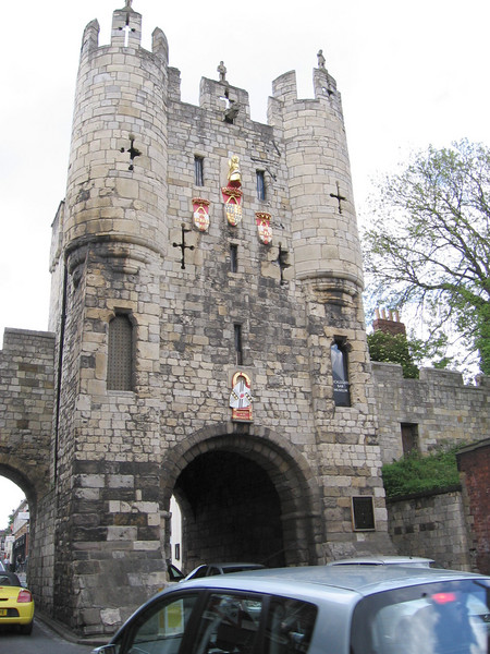 Micklegate Bar, York, which controlled access to the city from the south. It was here that the head of Richard, Duke of York was placed after his defeat at the Battle of Wakefield. Edward IV replaced that head with those of defeated Lancastrians after the Battle of Towton.