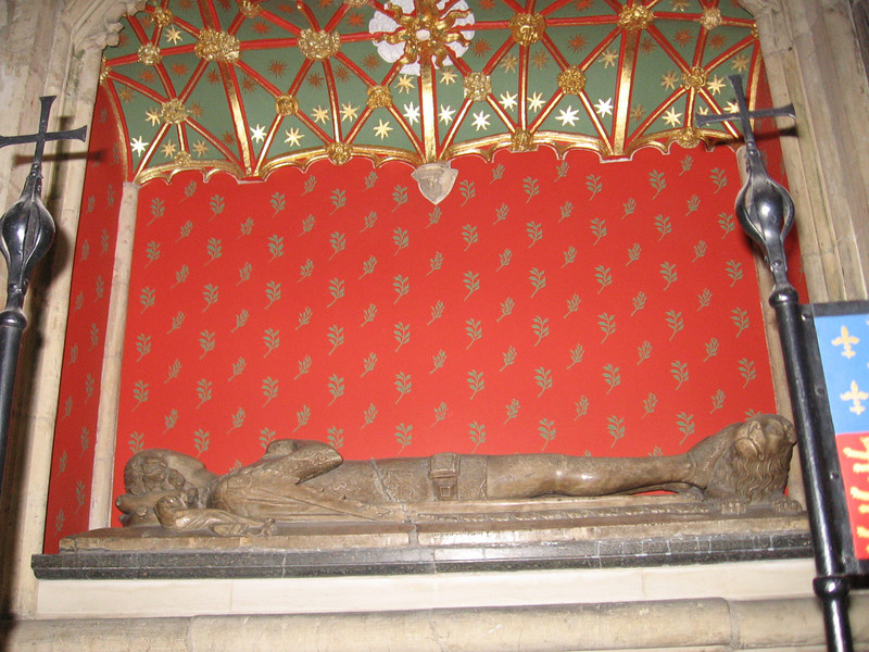 Tomb of Prince William, second son of Edward III and Queen Philippa, York Minster. He died in early boyhood.