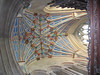 Brightly colored ceiling in the Chapel of Bishop Langston (Bishop of Winchester 1493-1501), Winchester Cathedral