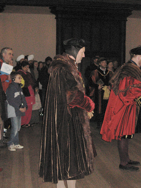 Actor portraying Sir Thomas More.