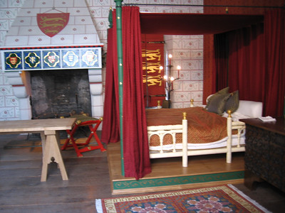 A recreation of the King's Bed in the Wakefield Tower in the time of King Edward I.