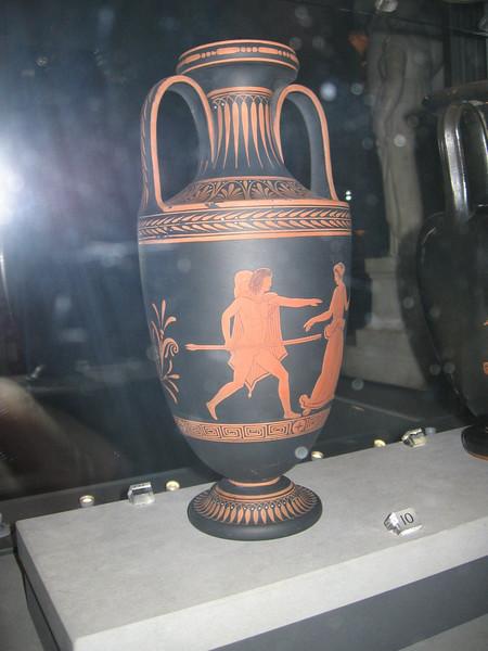 Black basalt vase with encaustic decoration ca 1785 - Victoria and Albert Musuem