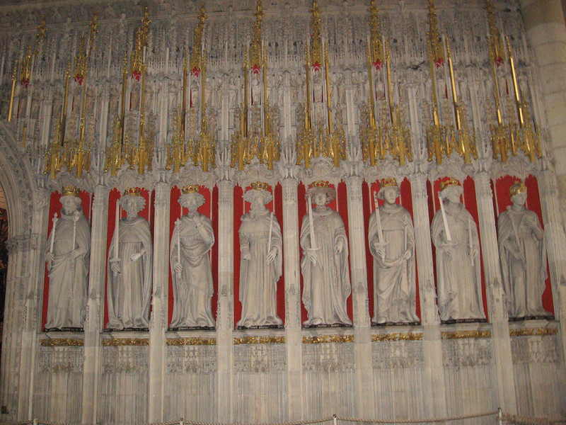 The Choir Sreen of York Minster depicting the kings of England