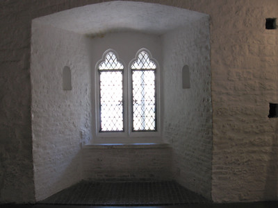 The room in the Bloody Tower where legend says Edward V and his brother weree imprisoned.