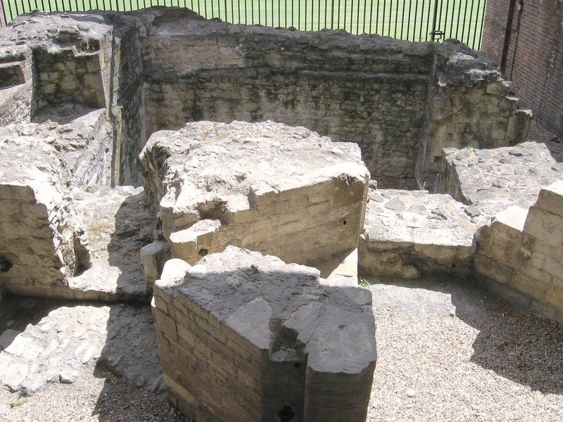 The remains of the medieval portal gate, the only surviving example of a large tower in the city wall of London.