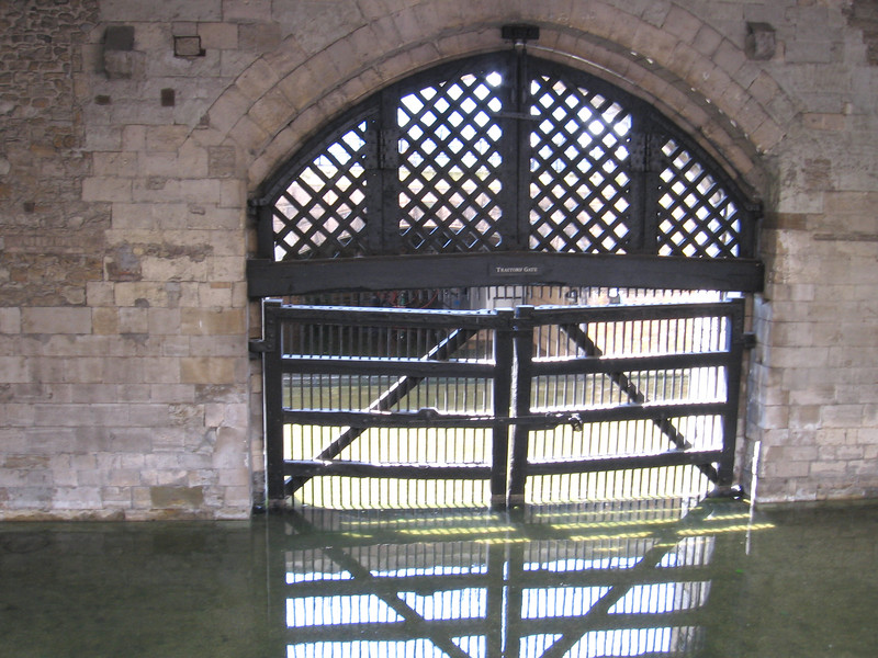 The Watergate of the Tower, which came to be known as Traitor's gate because it was the entrance where prisoners were usually brought in.