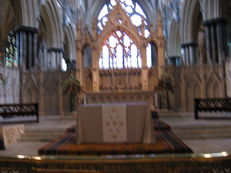 St. Hugh's Chapel - Lincoln Cathedral. St. Hugh was Bishop of Lindon from 1186  until his death in 1200.