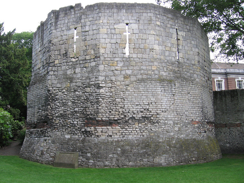 The Multiangular Tower (lower 19 feet date from 300 A.D.; the rest medieval), York