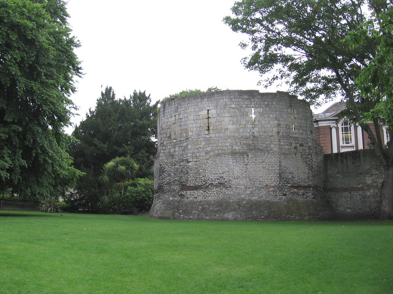 The Multiangular Tower, a corner of the original Roman walls, York