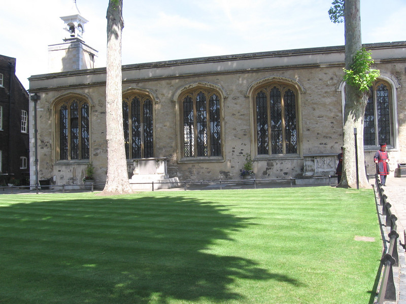 The Chapel of St. Peter ad Vincula at the Tower - final resting place of Anne Boleyn, Catherine Howard, and Lady Jane Grey--among others.