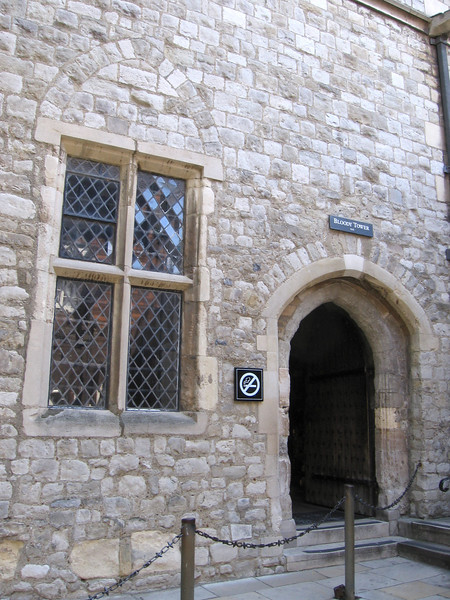 The entrance to the Bloody Tower