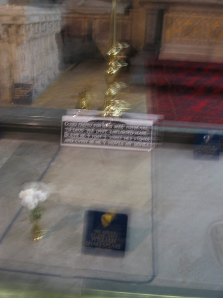 Shakespeare's grave-Holy Trinity Church, Stratford