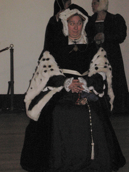 Actress portraying Catherine of Aragon.