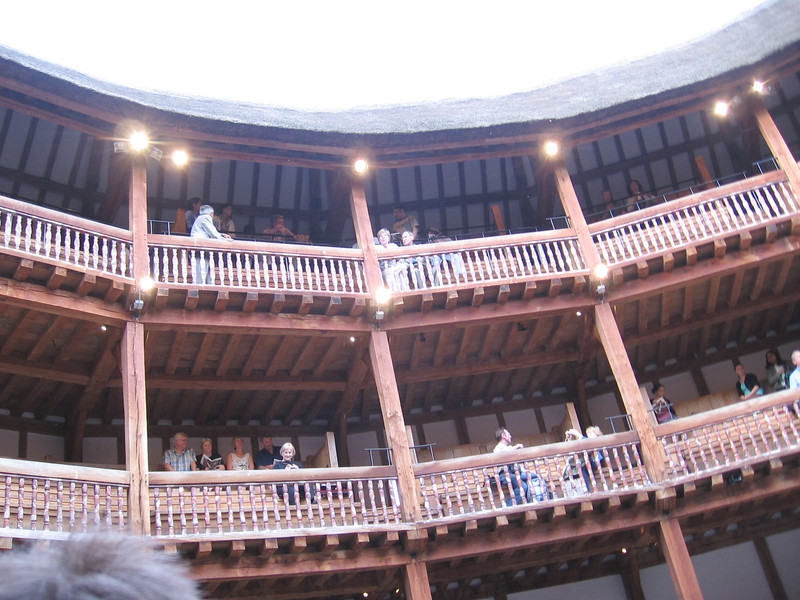 The galleries of the new Globe Theater.
