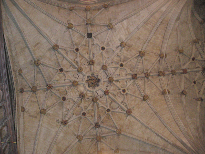 Ceiling decorations, Winchester Cathedral
