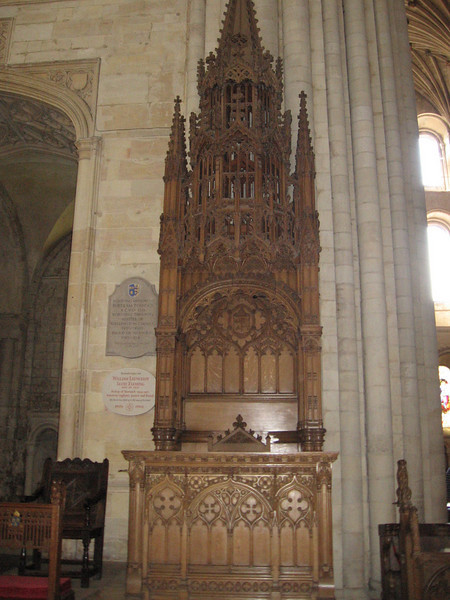 Server's chair, Norwich Cathedral