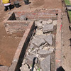 Archeological excavation of the foundations of New Place, Stratford-upon-Avon