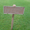 Sign marking the spot where in the twelfth century monks found bones they believed to be those of King Arthur and Queen Guinevere, Glastonbury Abbey