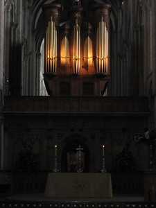 Altar and organ, Norwich Cathedral