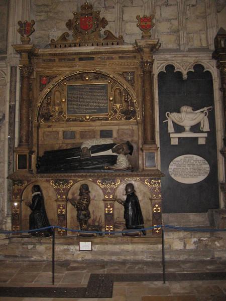 Tomb of Matthew Hutton, Archbishop of York 1595-1601.