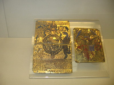 Garter plates, the one on the right of William Parr, brother of Cathering, 1522--The Britsh Museum
