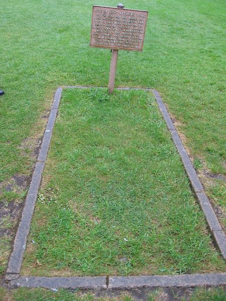 Site of the legendary grave of King Arthur, Glastonbury Abbey