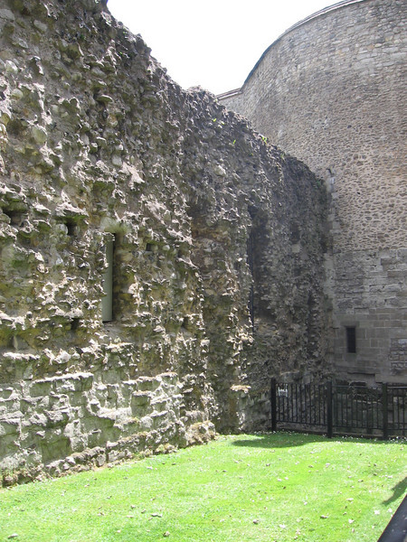 Part of wall built 1222-1228 and the Wakefield Tower, Tower of London