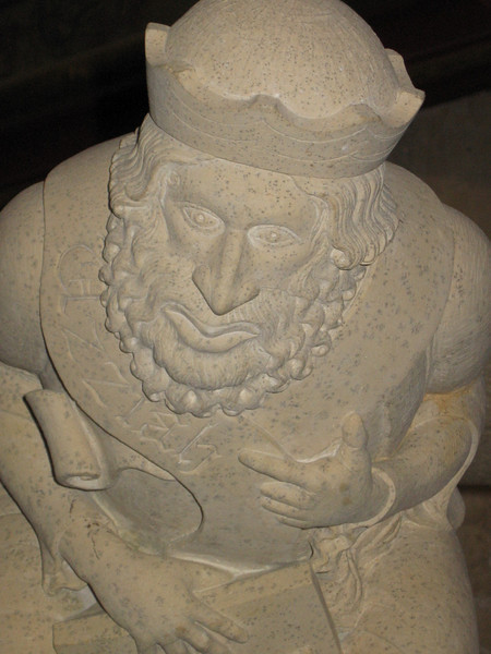 """Grotesque stone carving """"King Uziah's Leprosy"""", York Minster"""
