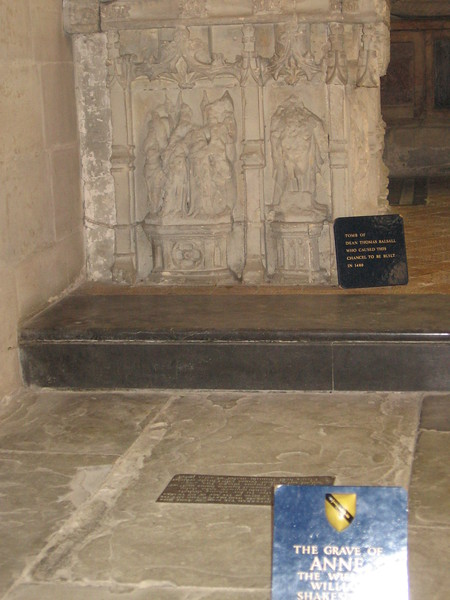 The Grave of Anne Hathaway, Holy Trinity Church, Stratford-upon-Avon