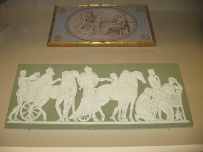 Plaque showing Priam begging for the body of Hector, Wedgwood, late eighteenth century--The British Museum