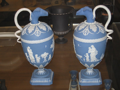 "Pair of ewers from the ""Maternity Series"", Wedgwood, late eighteenth century--The British Museum"