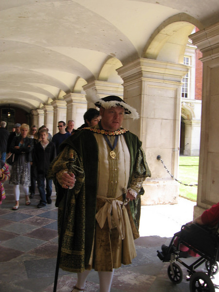 Actor depicting Henry VIII, Hampton Court Palace
