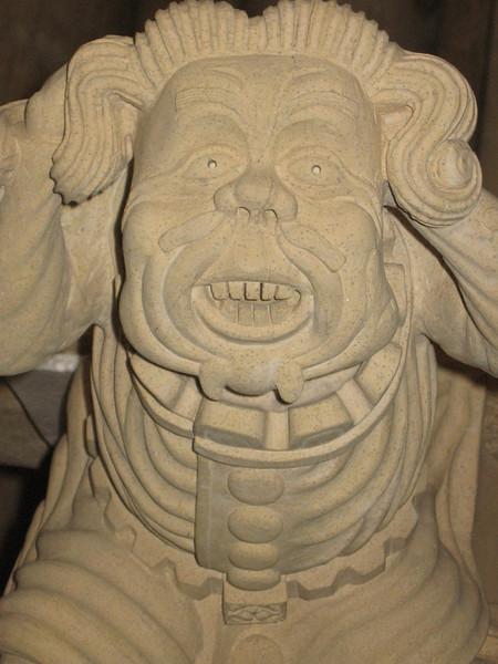 "Grotesque stone carving ""Madness"", York Minster"