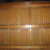 Linen fold paneling in Wolsey's Closet, Hampton Court Palace.