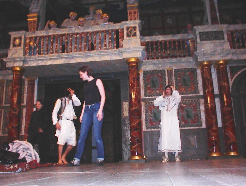 The cast of The Tempest at the New Globe, May 29, 2005