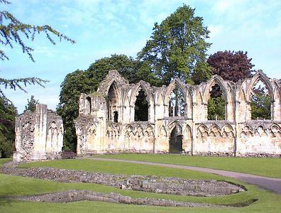 Ruined monastery, York