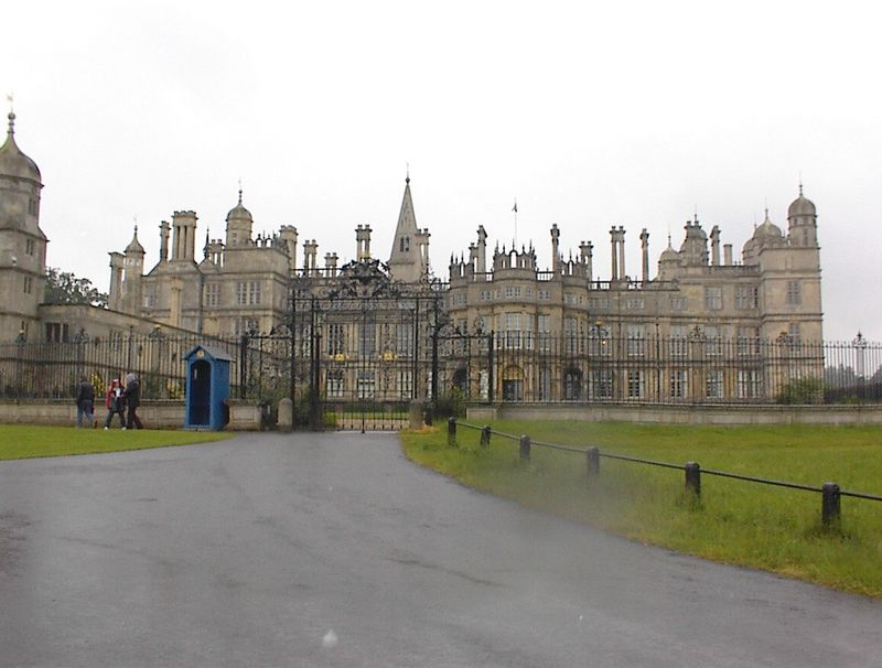 Burghley House Stamford in the rain