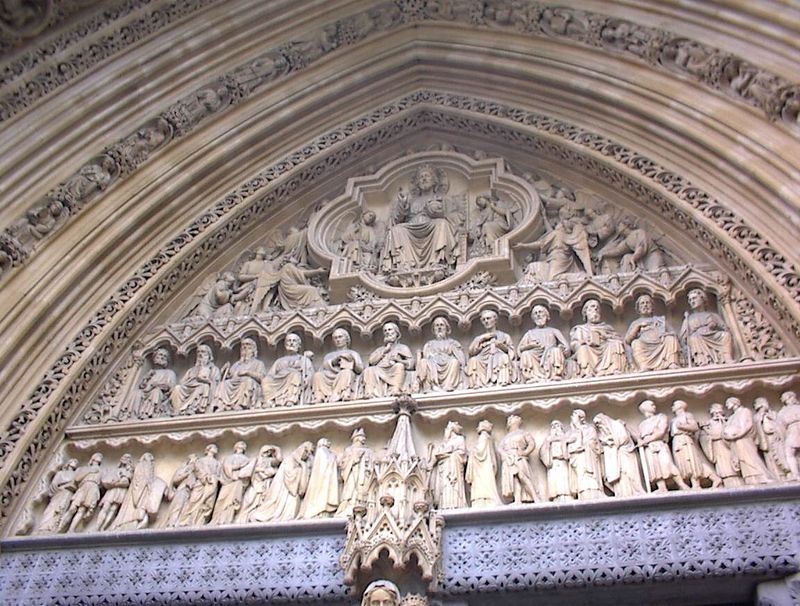 Statues above the West Door, Westminster Abbey