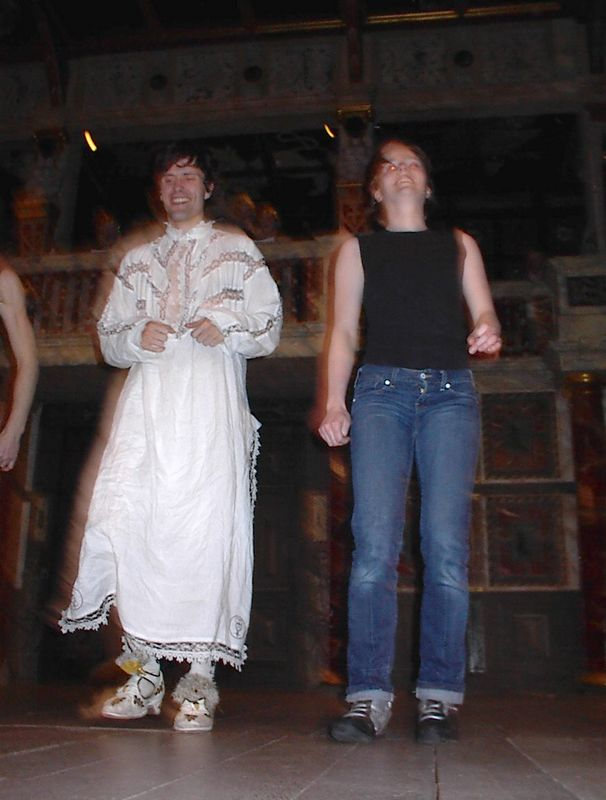 Miranda/Ariel/others and a dancer from The Tempest at the Globe