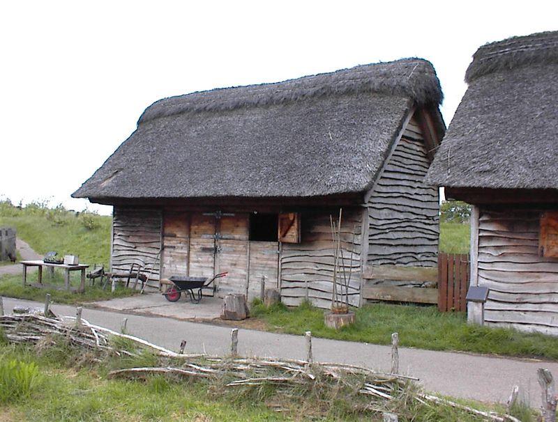 Recreation of a seventh century monastice farm-Bede's World, Jarrow