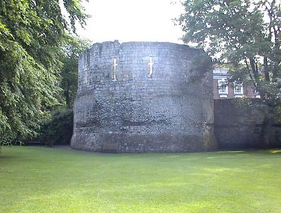 Medieval tower, York City Wall