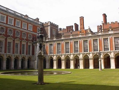 Hampton Court Palace with Tudor chimneys