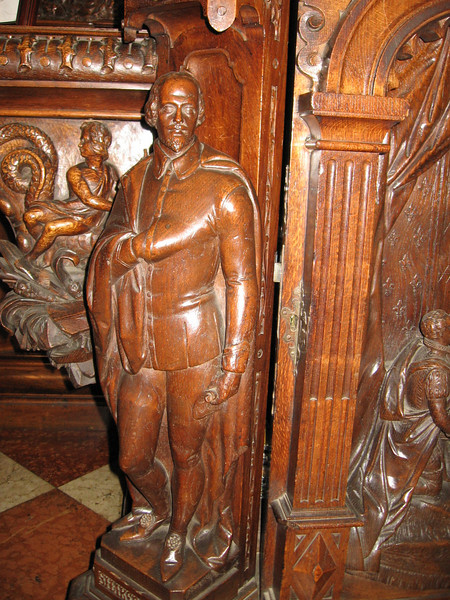 William Shakespeare, detail of buffet, Warwick Castle