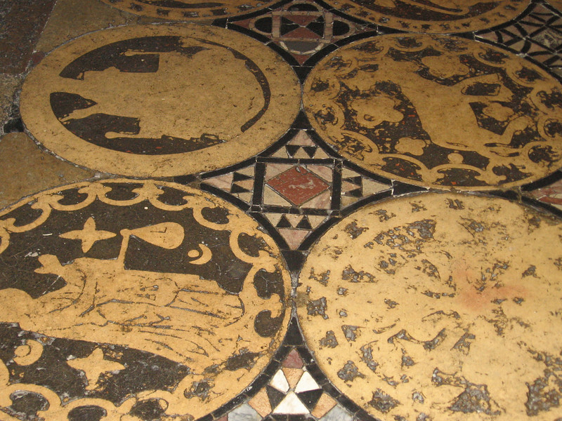 Floor tiles, Canterbury Cathedral